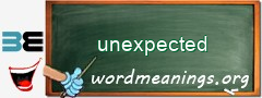 WordMeaning blackboard for unexpected